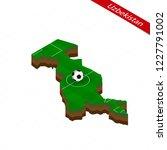 isometric map of uzbekistan...   Shutterstock .eps vector #1227791002