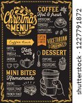 christmas menu template for... | Shutterstock .eps vector #1227791872