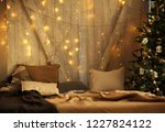 new year's background christmas ... | Shutterstock . vector #1227824122