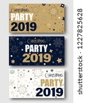 merry christmas party 2019. set ...   Shutterstock .eps vector #1227825628