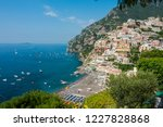 coastal towns in capri  italy.... | Shutterstock . vector #1227828868