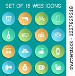 pawn shop web icons on colorful ... | Shutterstock .eps vector #1227829318