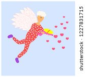 vector valentines day greeting... | Shutterstock .eps vector #1227831715