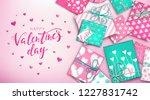 happy valentine's day banner... | Shutterstock .eps vector #1227831742