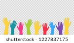 hands up. isolated on... | Shutterstock .eps vector #1227837175