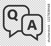 question and answer icon in... | Shutterstock .eps vector #1227838468