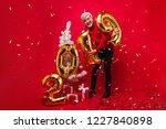 good humoured old man...   Shutterstock . vector #1227840898