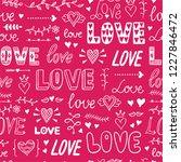 love seamless pattern.... | Shutterstock .eps vector #1227846472