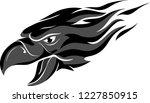 grey flame head eagle | Shutterstock .eps vector #1227850915