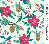 whimsical repeating pattern.... | Shutterstock .eps vector #1227854812