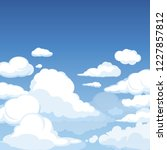 sky with fluffy clouds. clean... | Shutterstock .eps vector #1227857812