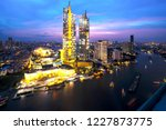 cityscape in middle of bangkok...   Shutterstock . vector #1227873775