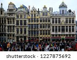 tourists walk at the grand... | Shutterstock . vector #1227875692