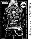 hard rock festival poster.... | Shutterstock .eps vector #1227878335
