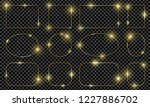 gold shiny glowing frames set... | Shutterstock .eps vector #1227886702
