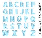 vector set of cartoon ice... | Shutterstock .eps vector #1227887812