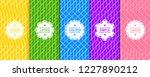 set of vector seamless... | Shutterstock .eps vector #1227890212