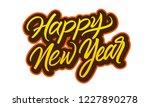happy new year lettering vector.... | Shutterstock .eps vector #1227890278