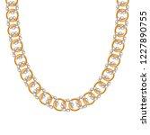 chunky chain golden metallic... | Shutterstock .eps vector #1227890755