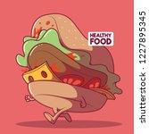 burger running vector...   Shutterstock .eps vector #1227895345
