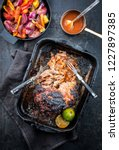 traditional barbecue pulled... | Shutterstock . vector #1227897385