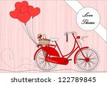 bicycle with heart shape... | Shutterstock .eps vector #122789845