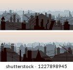 set of horizontal banners of... | Shutterstock .eps vector #1227898945