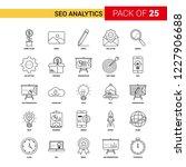 seo analytics black line icon   ... | Shutterstock .eps vector #1227906688