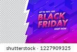 black friday sale banner design ...   Shutterstock .eps vector #1227909325