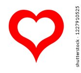 red heart symbol | Shutterstock . vector #1227910525