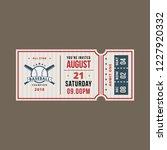 baseball ticket invitation | Shutterstock .eps vector #1227920332