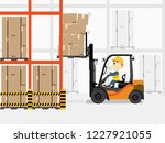 visual drawing of cartoon at... | Shutterstock .eps vector #1227921055