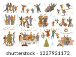 merry christmas and winter... | Shutterstock .eps vector #1227921172