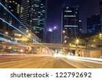 busy vehicle movement  downtown ... | Shutterstock . vector #122792692