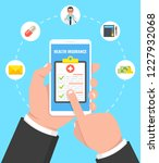 health insurance concept. hand... | Shutterstock .eps vector #1227932068