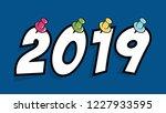2019 happy new year concept....   Shutterstock .eps vector #1227933595