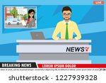 european or arabic male news... | Shutterstock .eps vector #1227939328