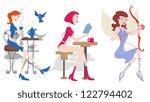 fashion girls vector | Shutterstock .eps vector #122794402