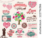 valentine's day design  labels  ... | Shutterstock .eps vector #122796586