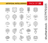 artificial intelligence black... | Shutterstock .eps vector #1227970105