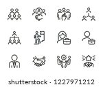 career promotion line icon set. ... | Shutterstock .eps vector #1227971212