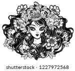 celtic fairy elf pagan princess.... | Shutterstock .eps vector #1227972568