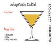 angel face alcoholic cocktail... | Shutterstock .eps vector #1227974005