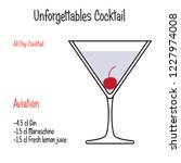 aviation alcoholic cocktail... | Shutterstock .eps vector #1227974008