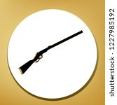 hunting rifle icon illustration.... | Shutterstock .eps vector #1227985192