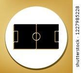 soccer field. vector. black... | Shutterstock .eps vector #1227985228