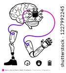 neuro chip bionic robot... | Shutterstock .eps vector #1227992245