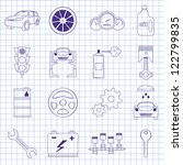 vector images on mechanics | Shutterstock .eps vector #122799835