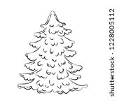 christmas tree illustration on... | Shutterstock .eps vector #1228005112