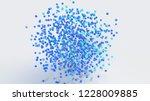 group of blue balls. abstract... | Shutterstock . vector #1228009885
